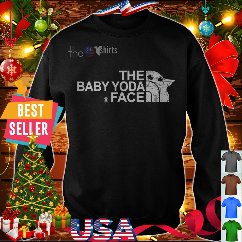 Best The baby Yoda face The North Face shirt