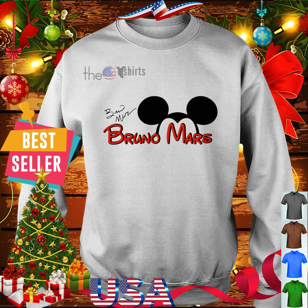 Mickey Mouse Bruno Mars signature shirt
