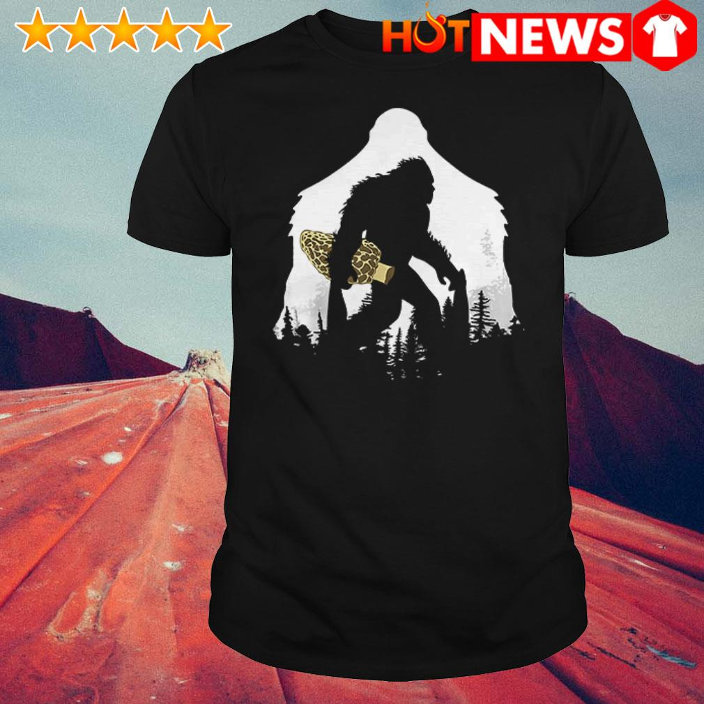 Awesome Bigfoot with Morel mushroom shirt