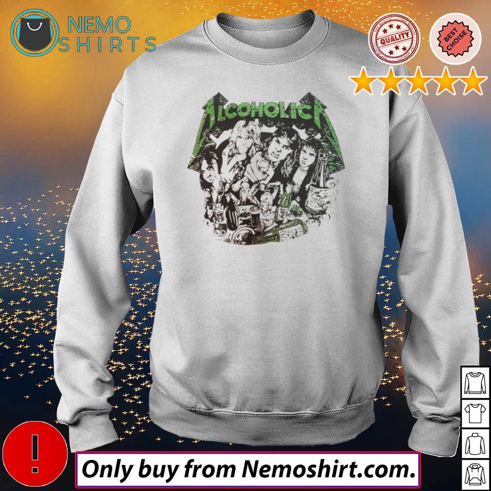 Alcoholica Metallica band all members s Sweatshirt white