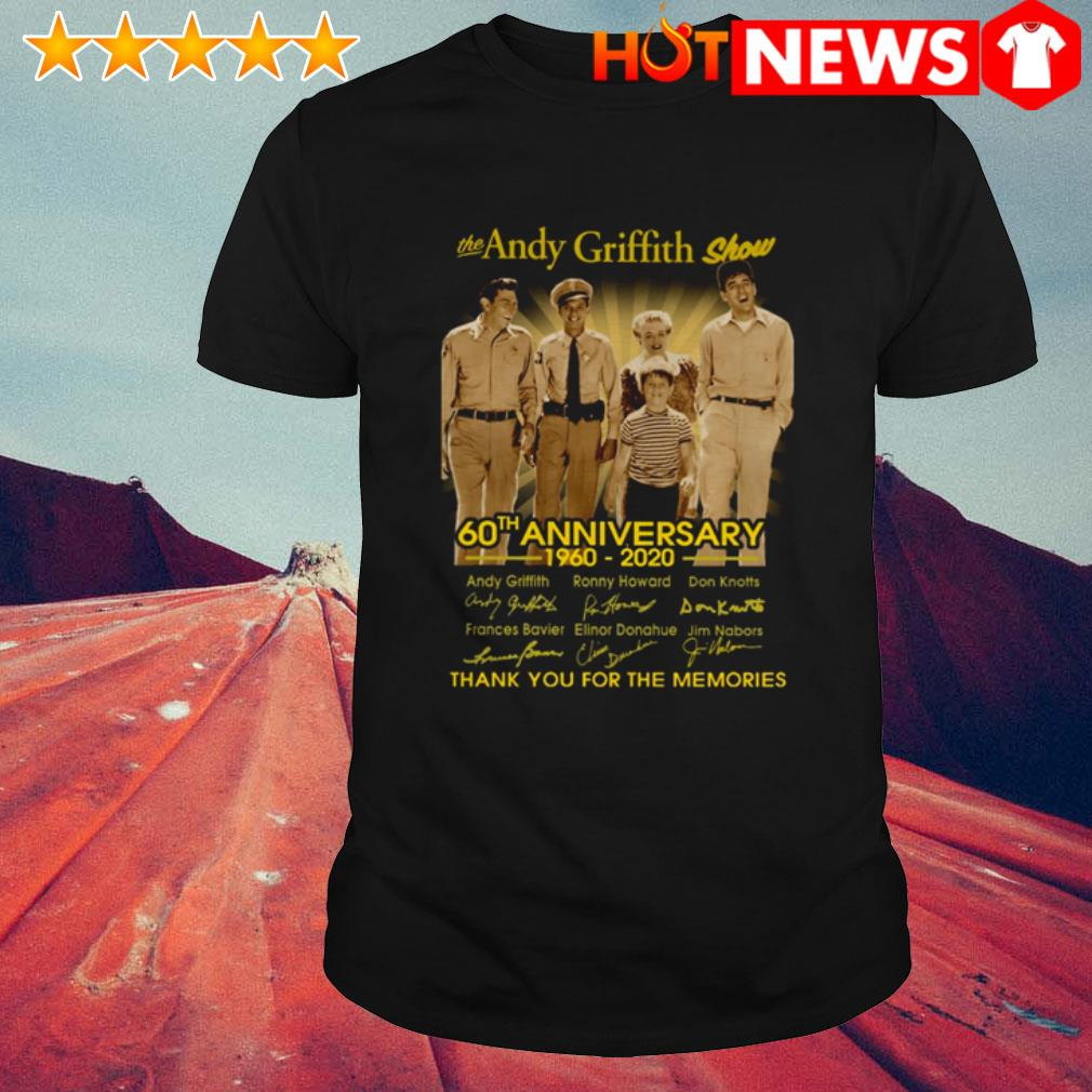 The Andy Griffith Show 60th Anniversary 1960-2020 signatures shirt
