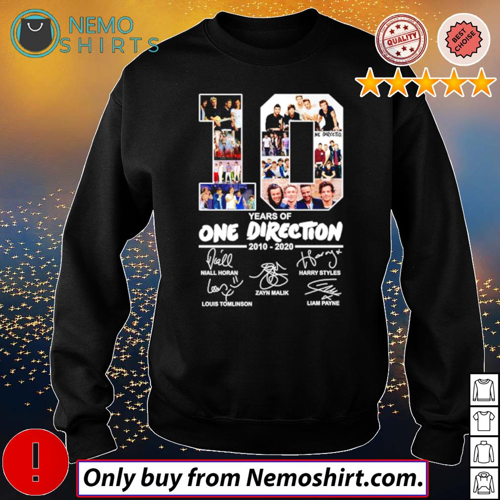 10 Years of One Direction 2010-2020 all members signatures s Sweatshirt Black