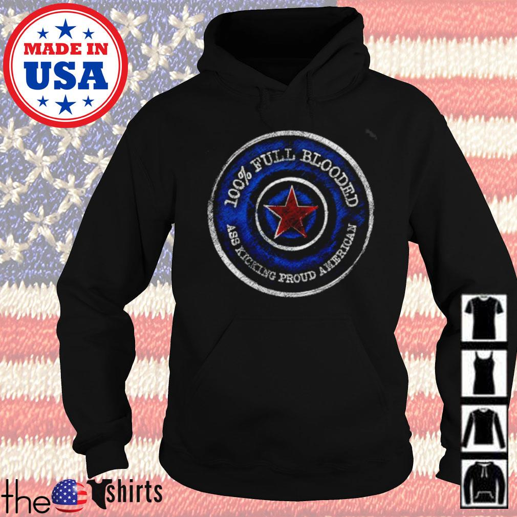 100% Full Blooded ass kicking proud american s Hoodie Black