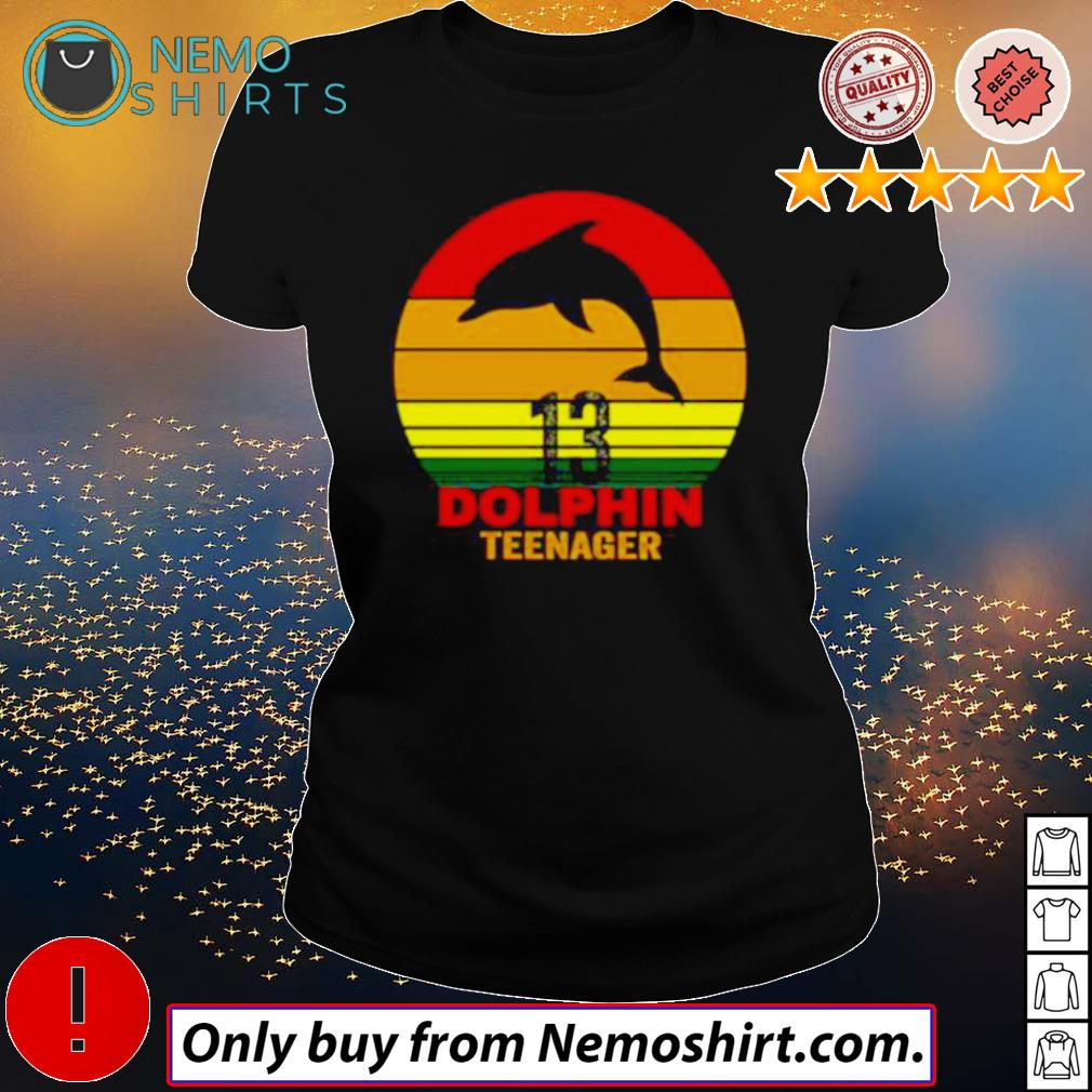 13 Dolphin teenager retro s Ladies Black
