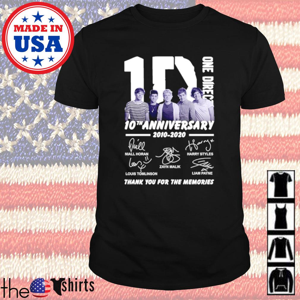 1D One Direction 10th Anniversary 2010-2020 all members signatures shirt