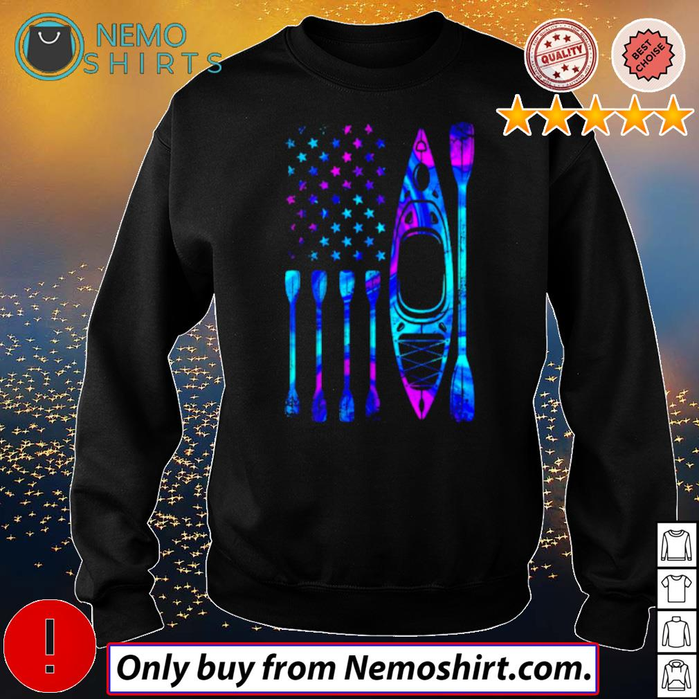 American Flag Kayak s Sweatshirt Black