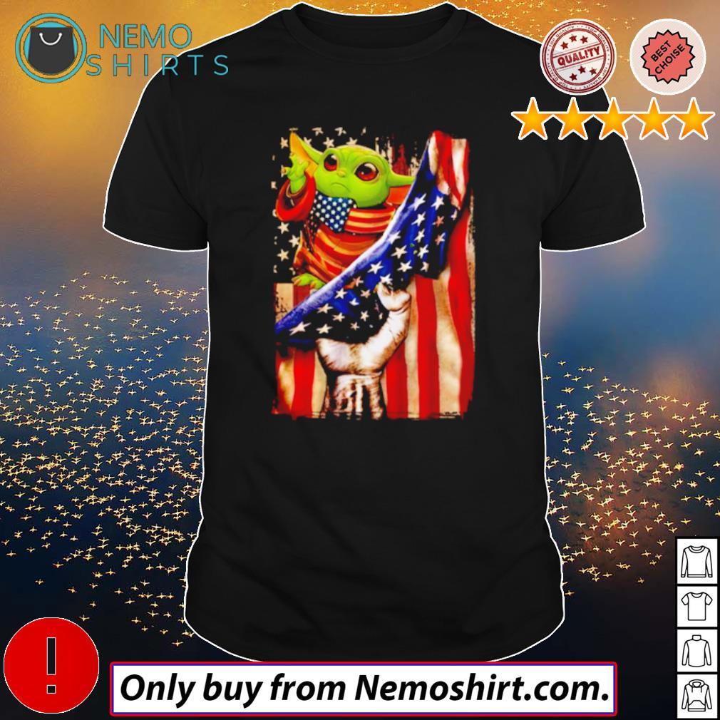 Baby Yoda USA Flag 4th of July shirt