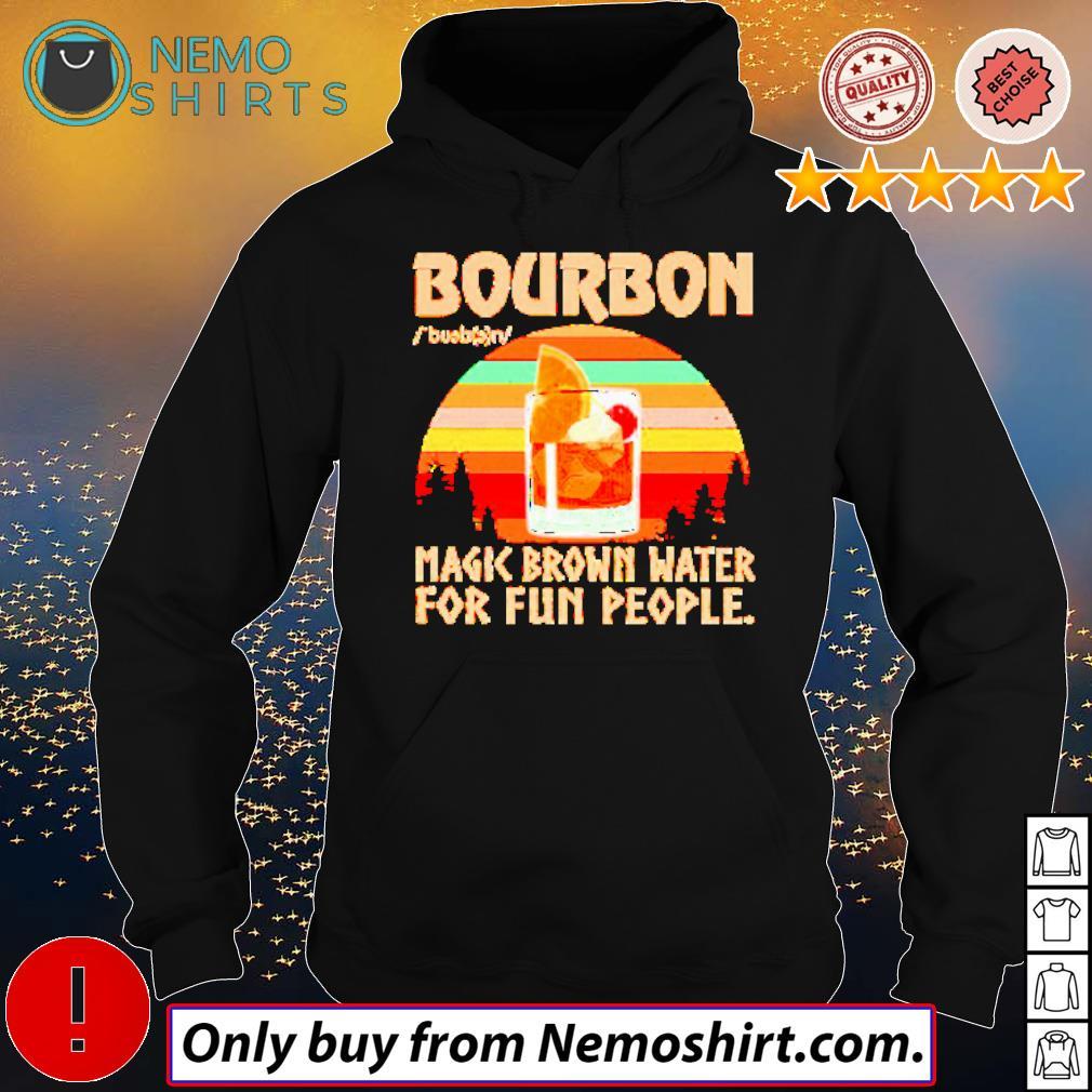 Bourbon magic brown water for fun people retro s Hoodie Black