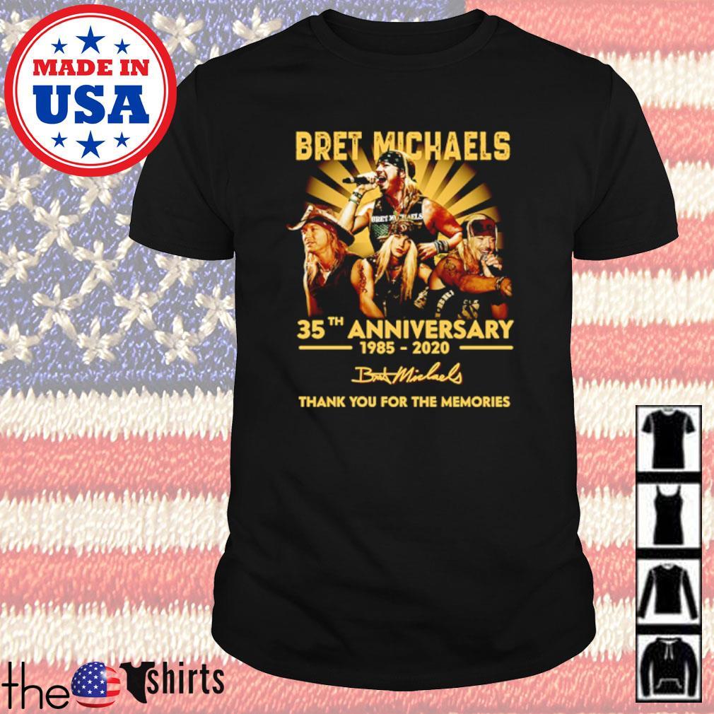 Bret Michaels 35th Anniversary 1985-2020 signature shirt