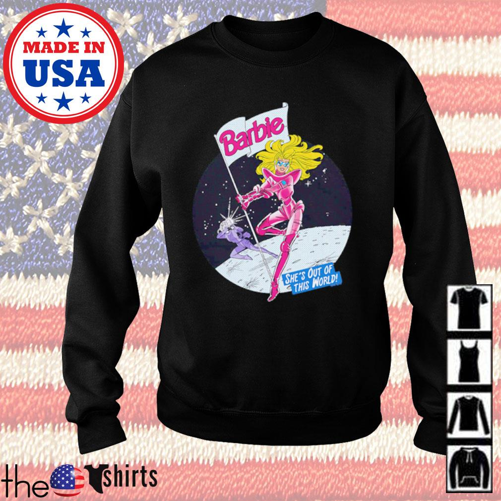 Cartoon Barbie moon out of this world s Sweater Black