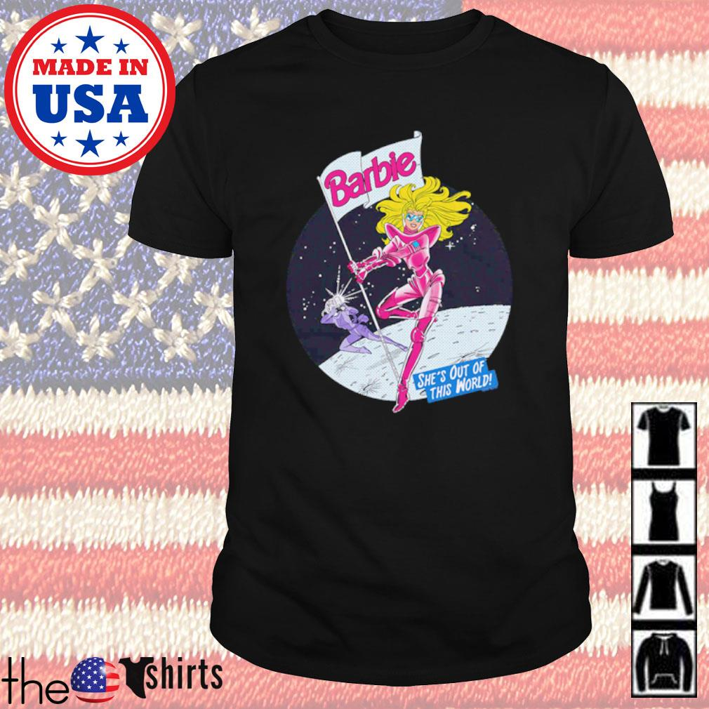 Cartoon Barbie moon out of this world shirt