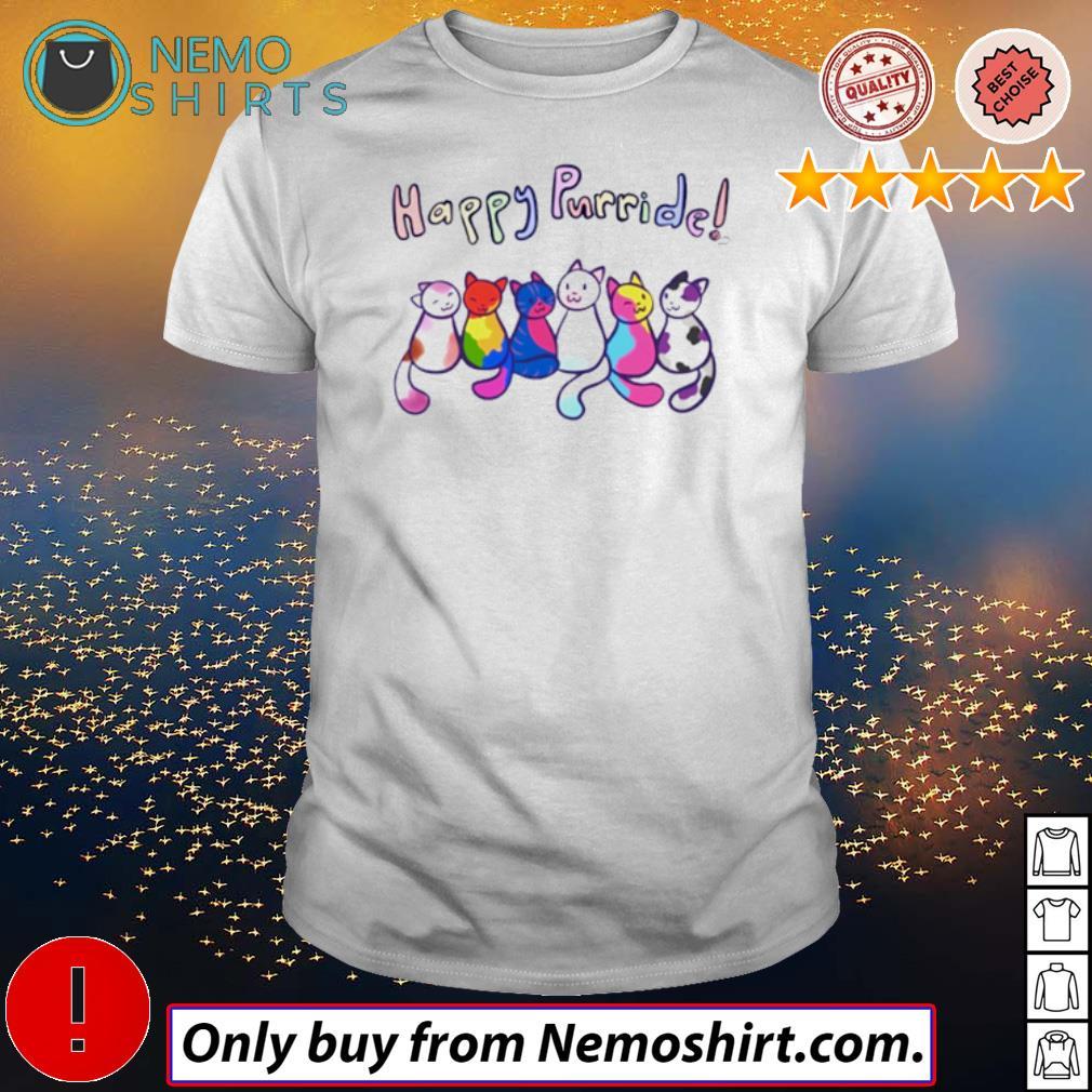 Cat color Happy Purride shirt