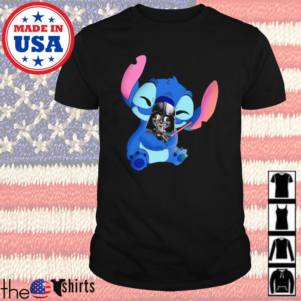 Disney Baby Stitch hug Baby Darth Vader shirt