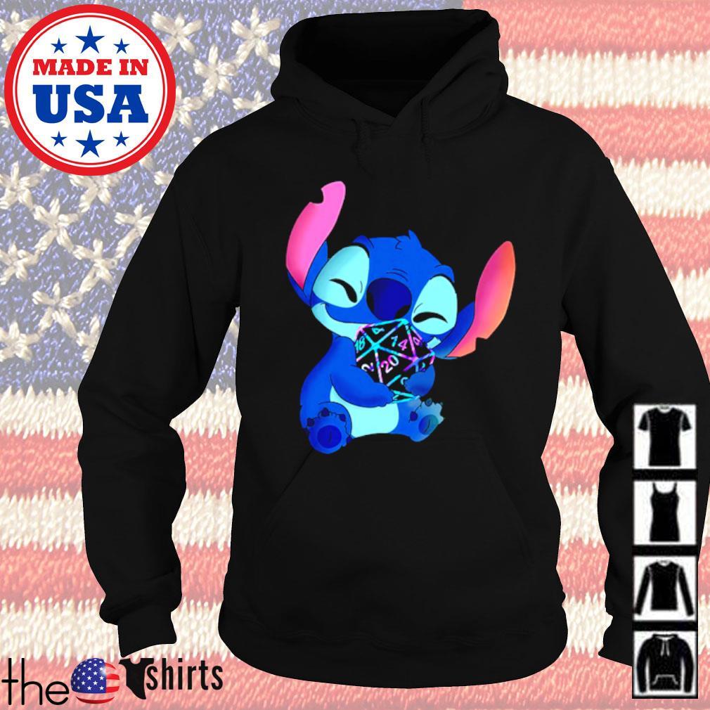 Disney Baby Stitch hug Dungeon s Hoodie Black