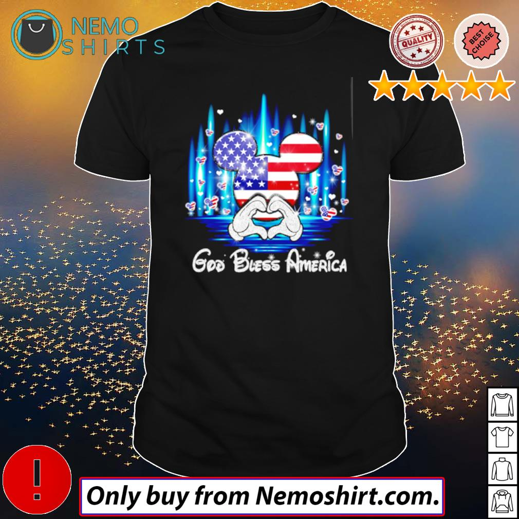 Glitter Mickey Mouse God Bless America 4th of July independence day shirt