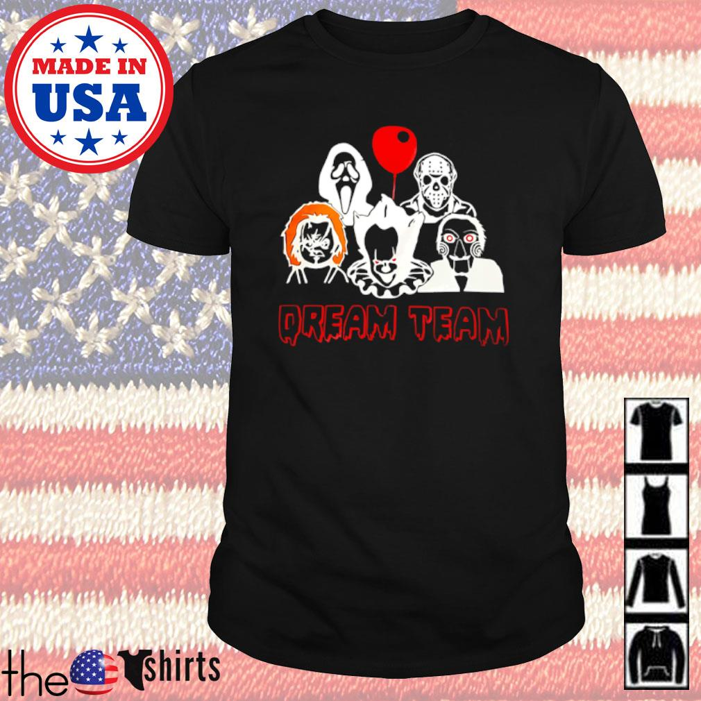 Horror movies characters dream team shirt