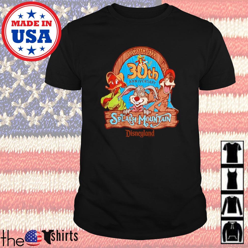 July 17th 1989 30th anniversary Splash Mountain shirt