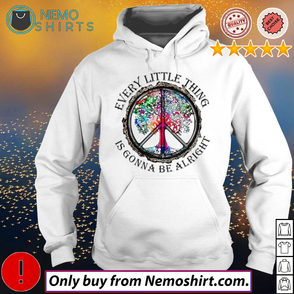 LGBT Hippie trees every little thing is gonna be alright s Hoodie white