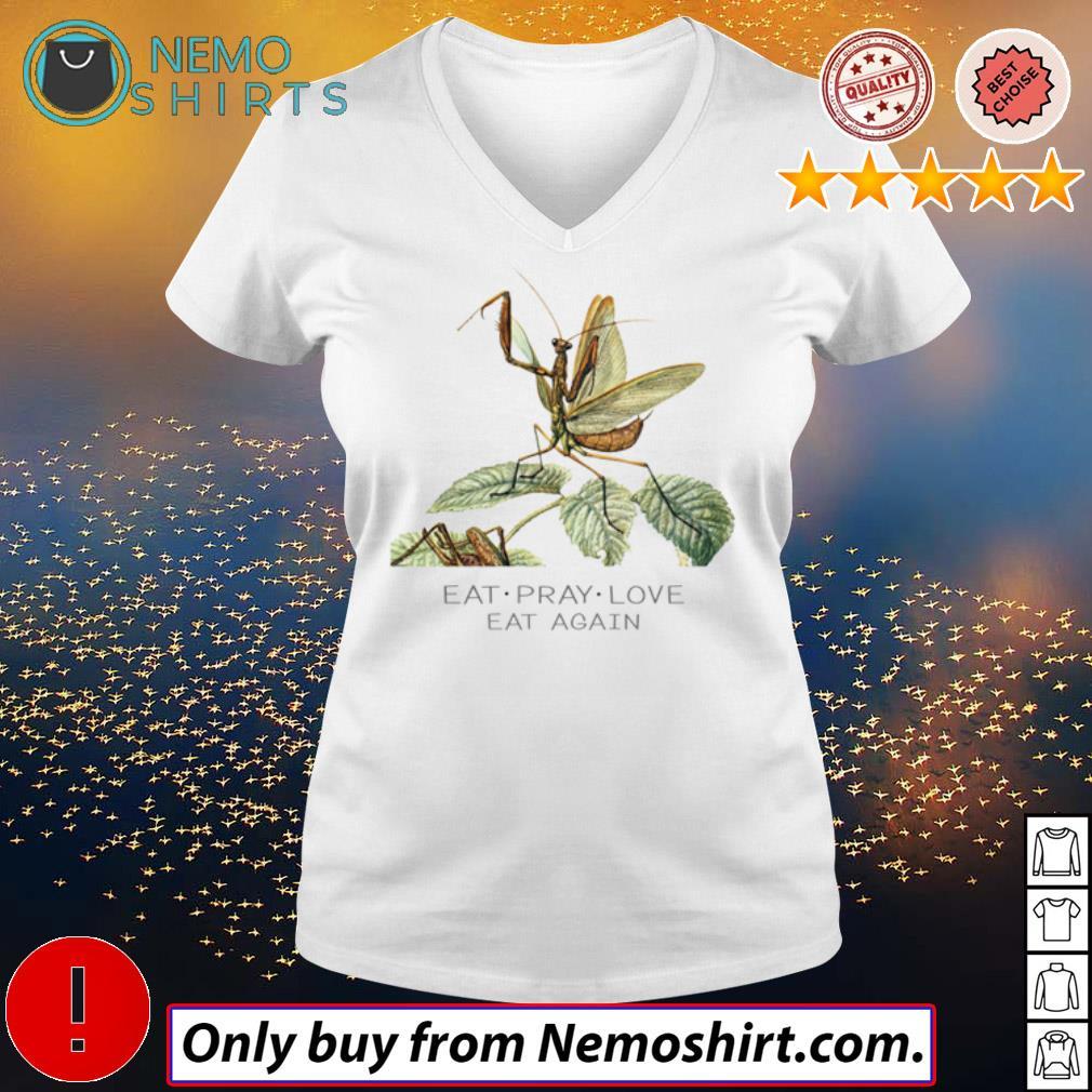 Mantis Eat pray love eat again s V-neck white