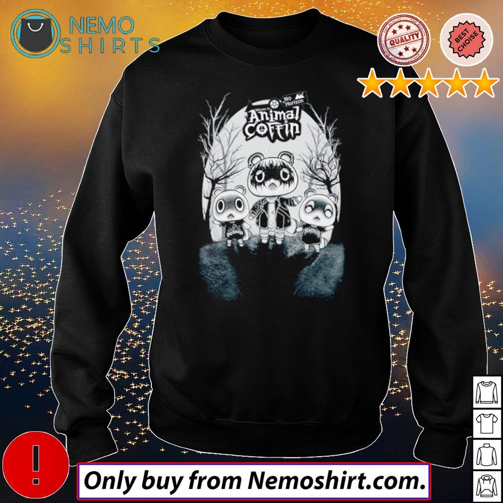 No Horizon welcome to Animal Coffin s Sweatshirt Black