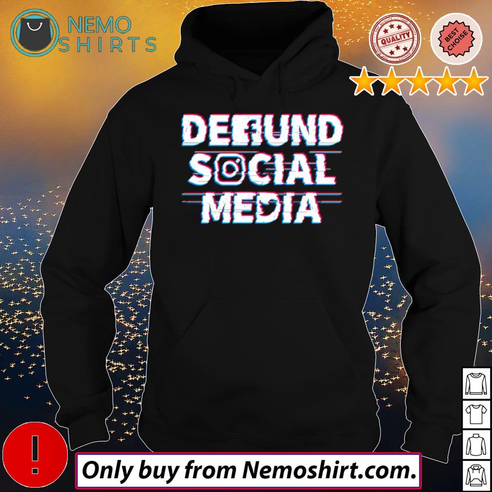 Official Defund Social Media s Hoodie Black
