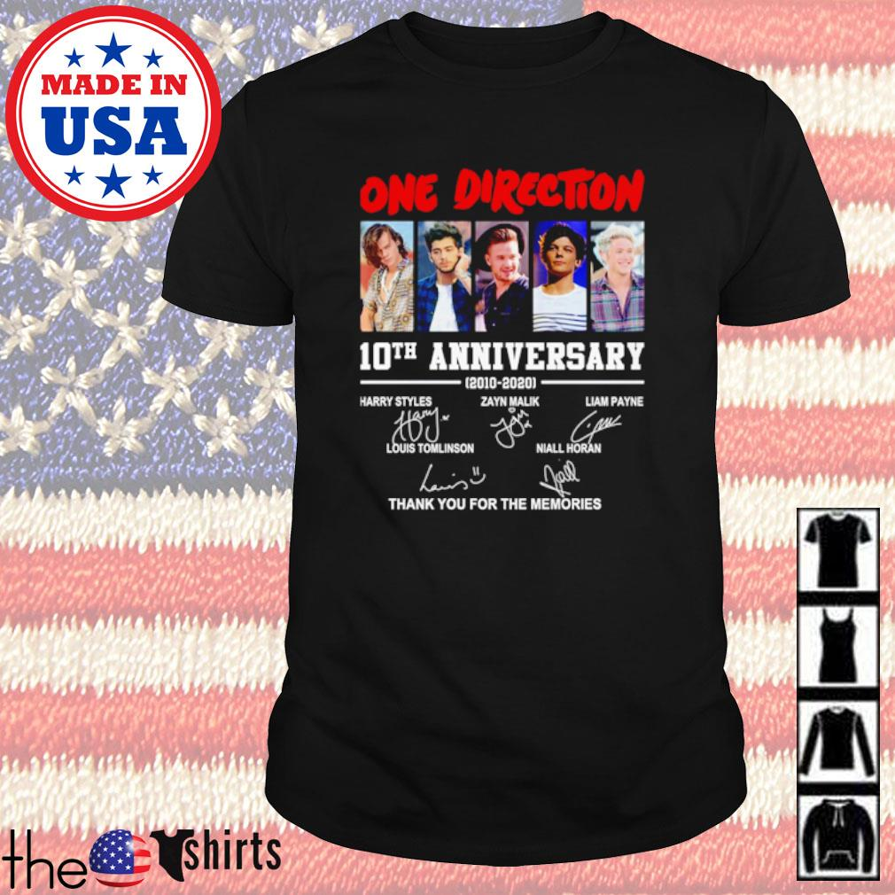 One Direction 10th Anniversary 2010-2020 all member signatures shirt
