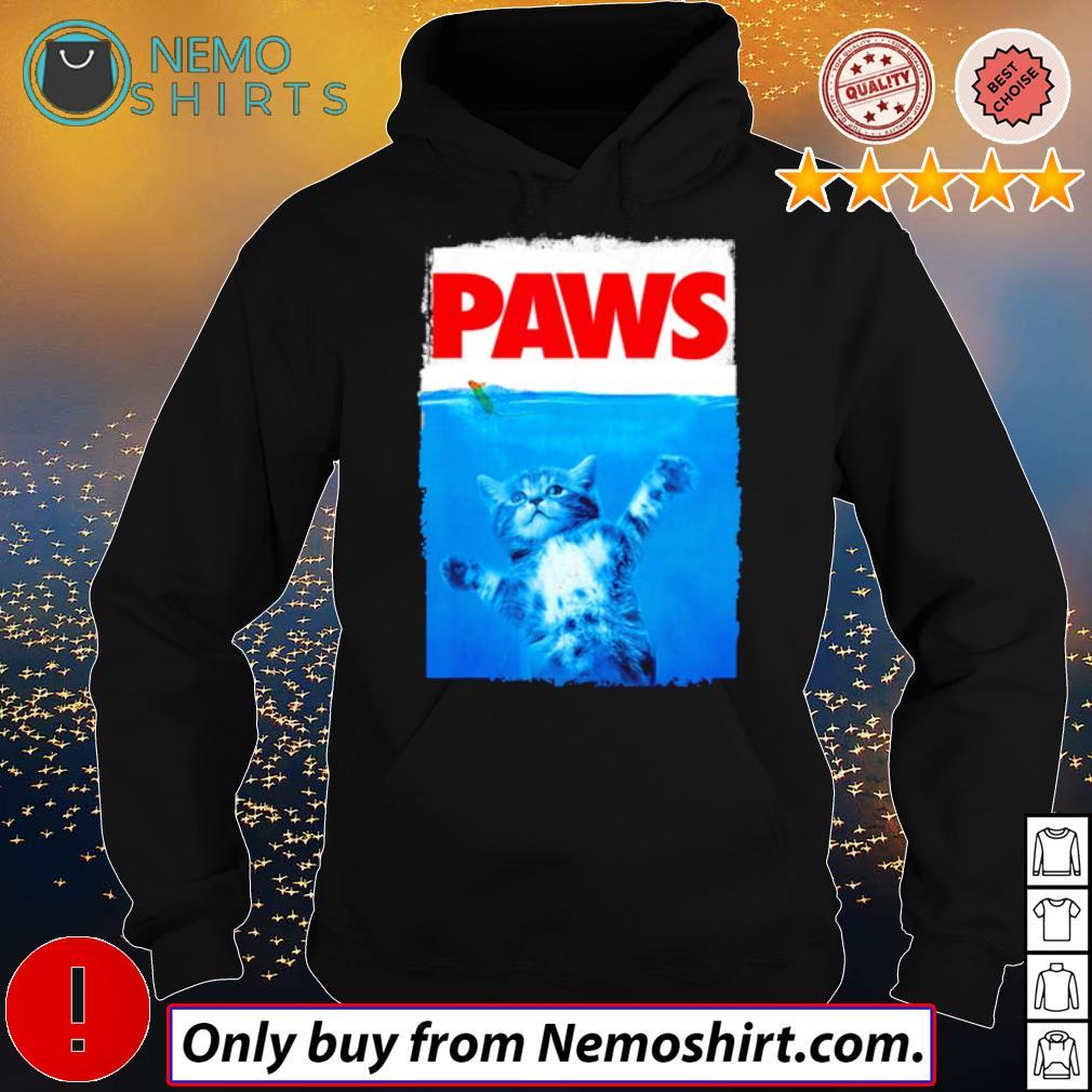 Paws Cat sea s Hoodie Black