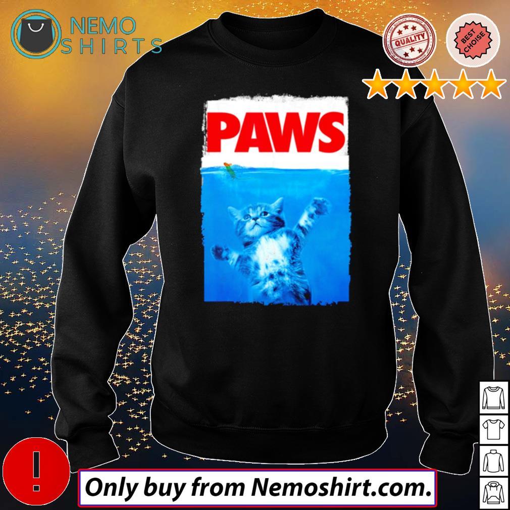Paws Cat sea s Sweatshirt Black
