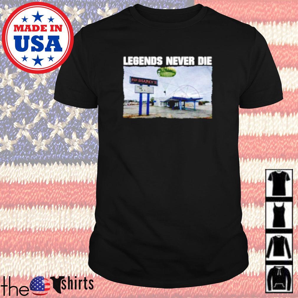 Rip Sharky's legends never die shirt