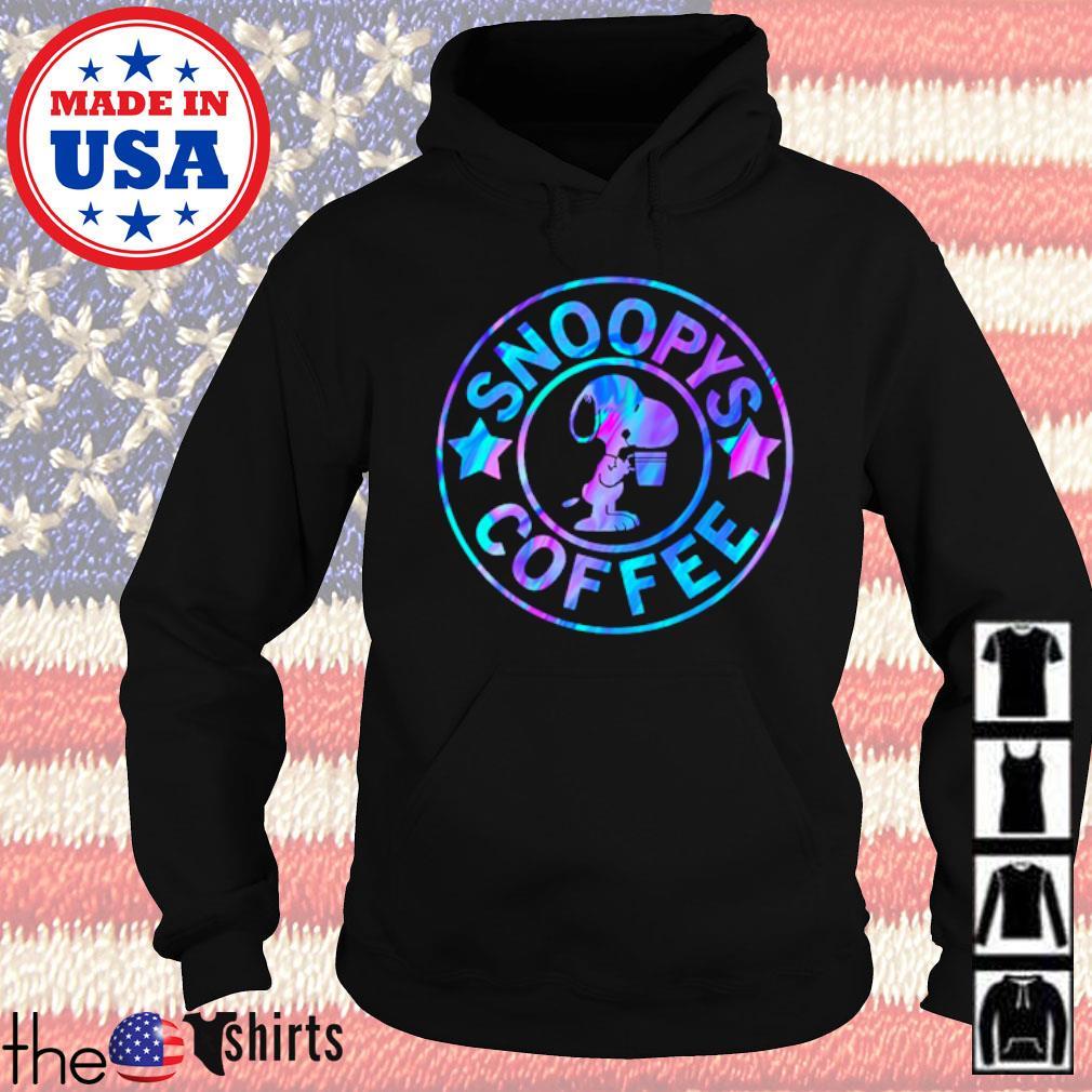 Snoopys coffee love s Hoodie Black