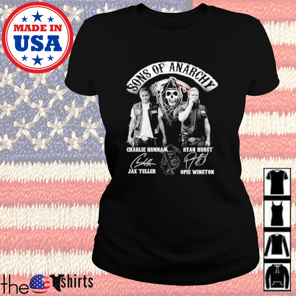 Sons of Anarchy all character signatures s Ladies Tee Black