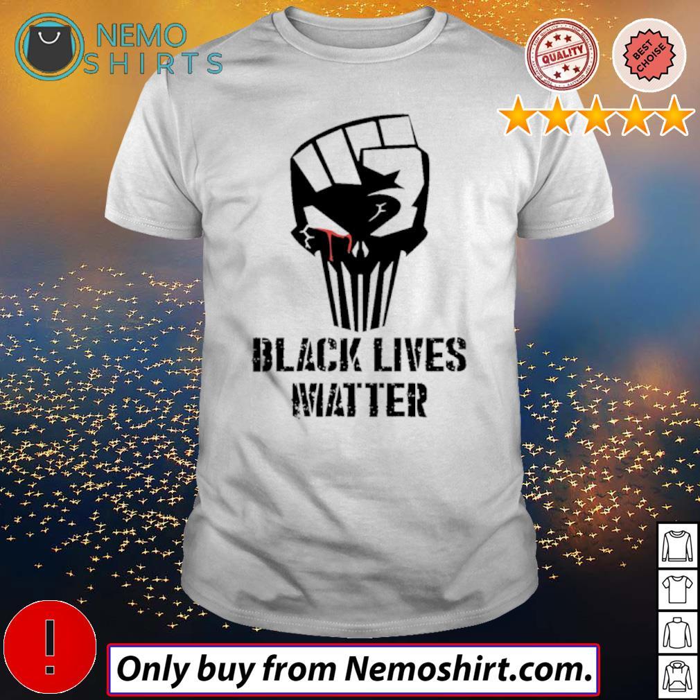Strong hand Skull Black lives matter shirt