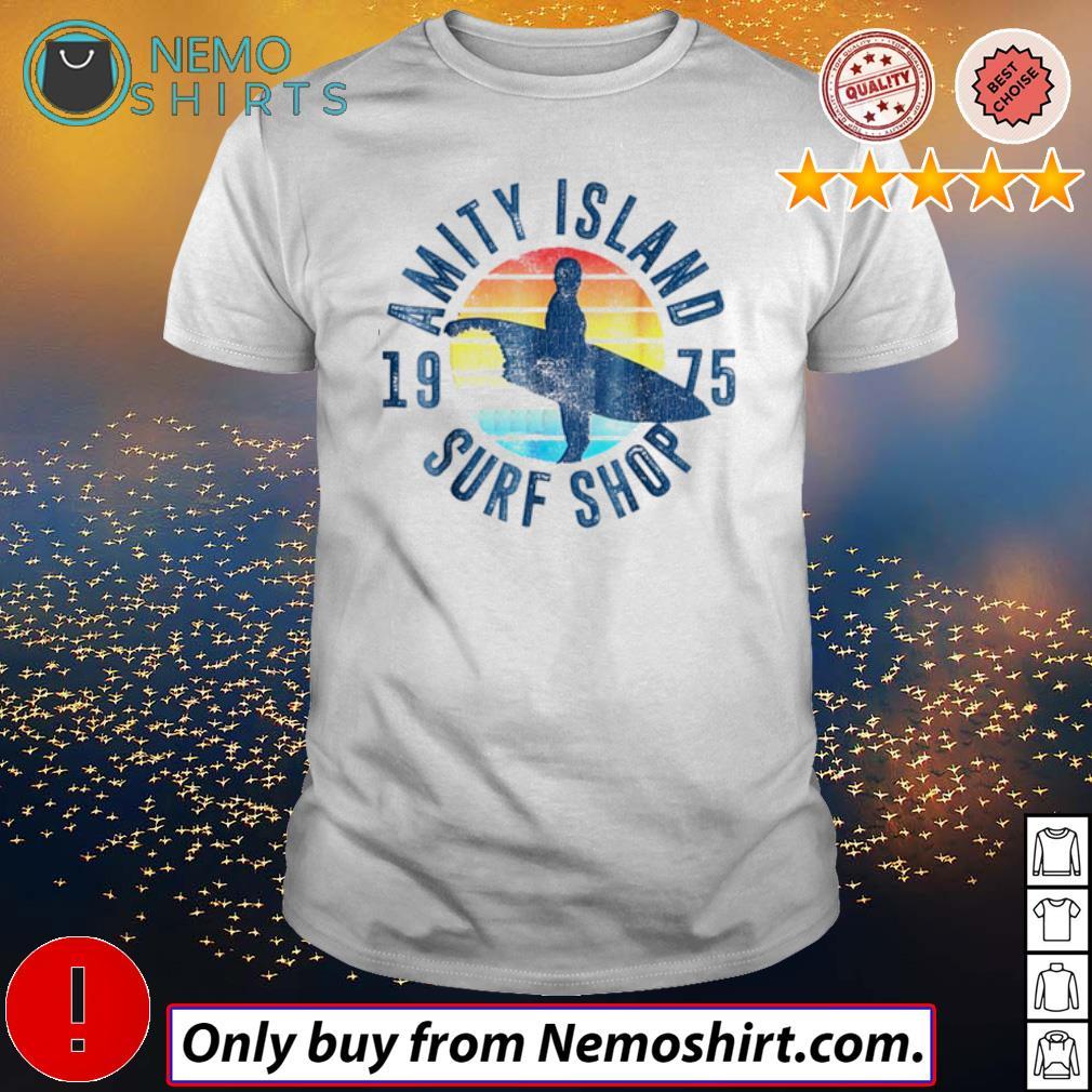 Surfing Amity Island surf shop 1975 sunset shirt