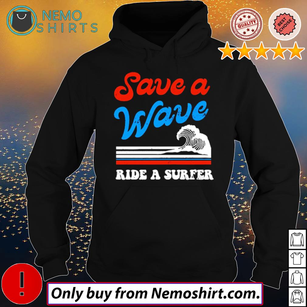 Surfing on the beach save a wave ride a surfer s Hoodie Black