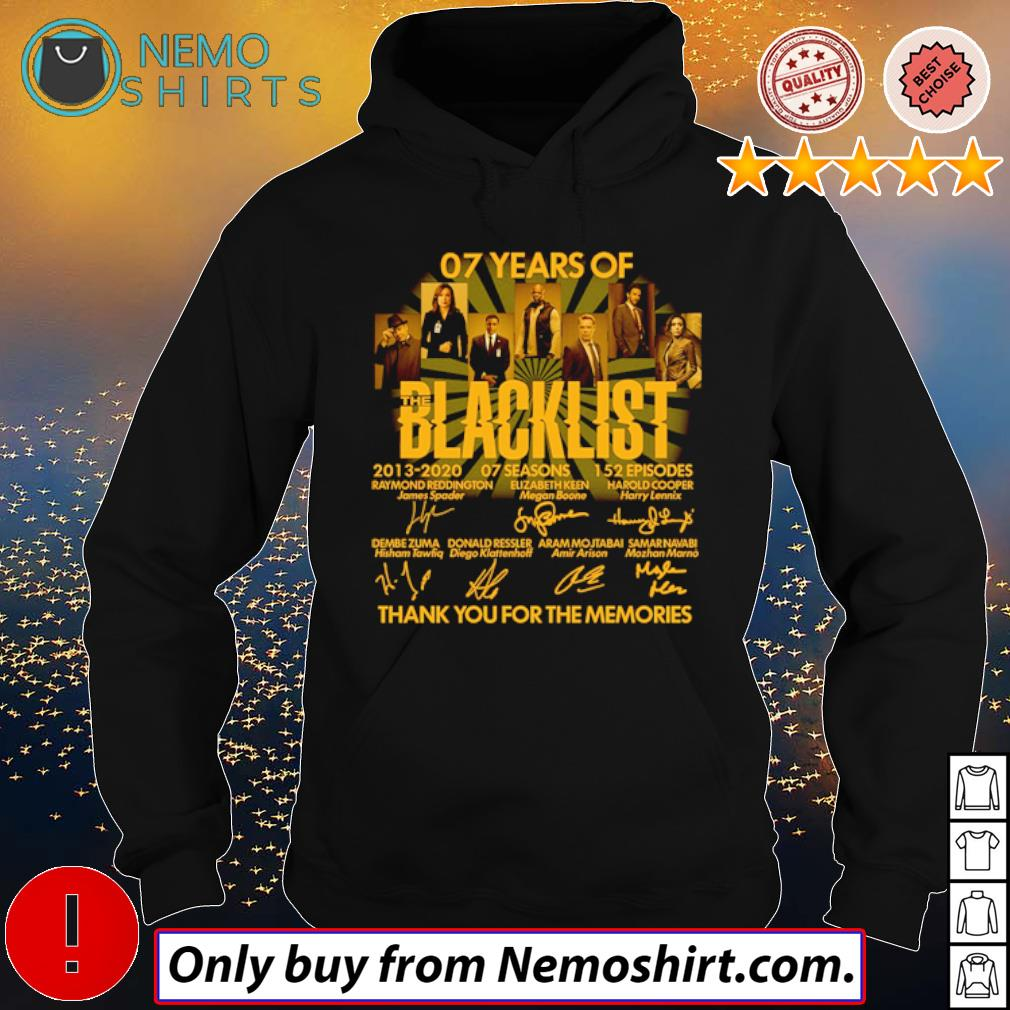 Thank you for the memories 07 Years of Blacklist 2013-2020 signatures s Hoodie Black