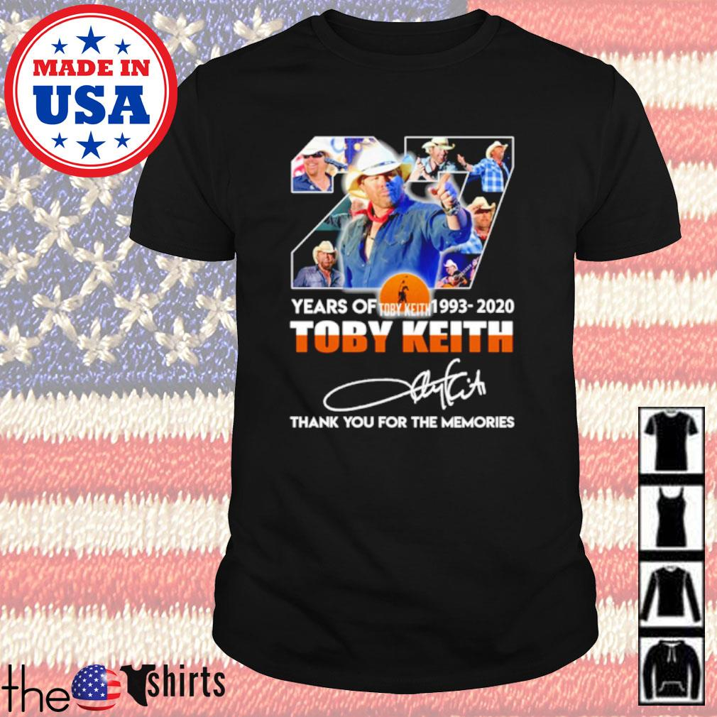 Thank you for the memories 27 Years of Toby Keith 1993-2020 signature shirt