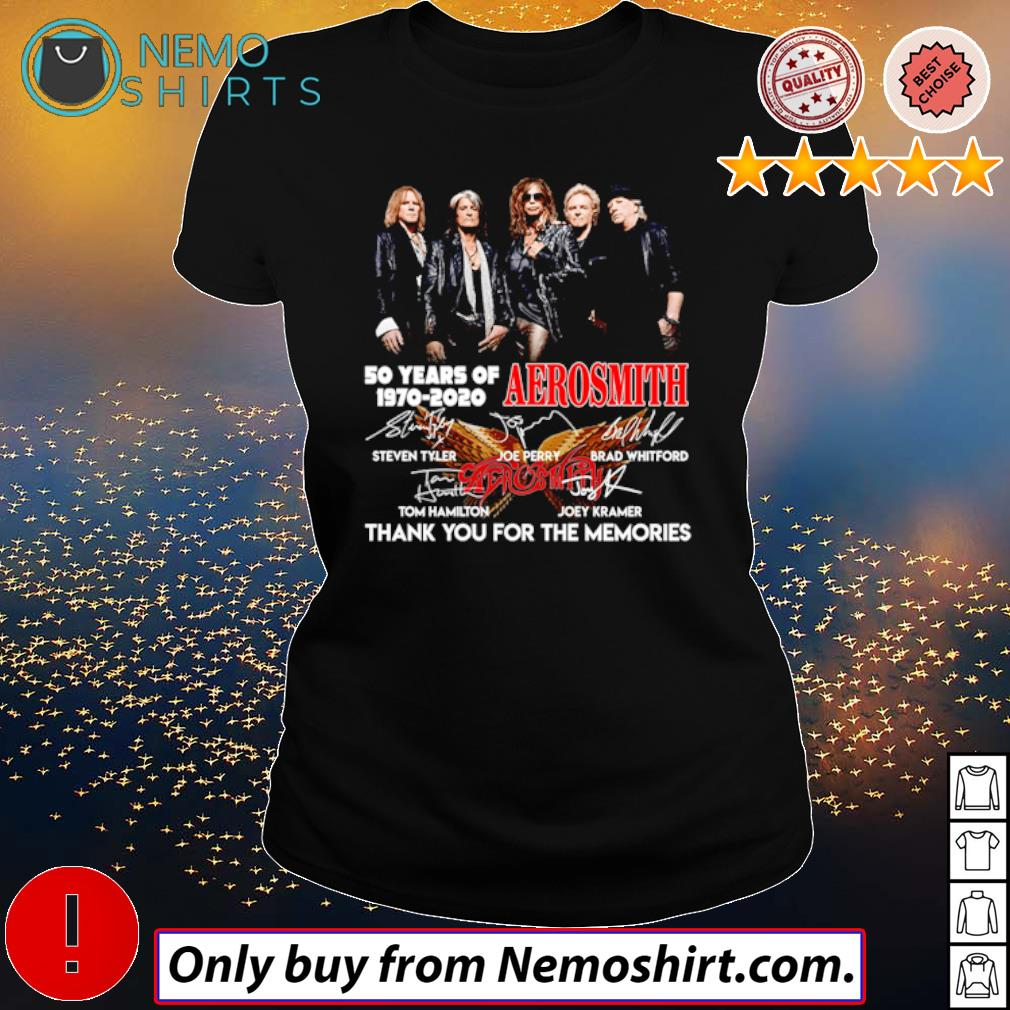 Thank you for the memories 50 Years of Aerosmith 1970-2020 s Ladies Black