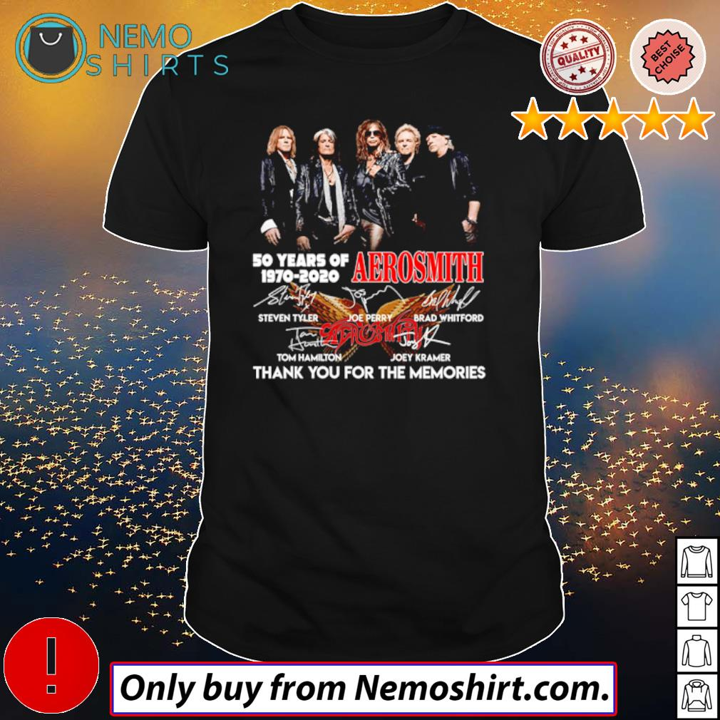 Thank you for the memories 50 Years of Aerosmith 1970-2020 shirt