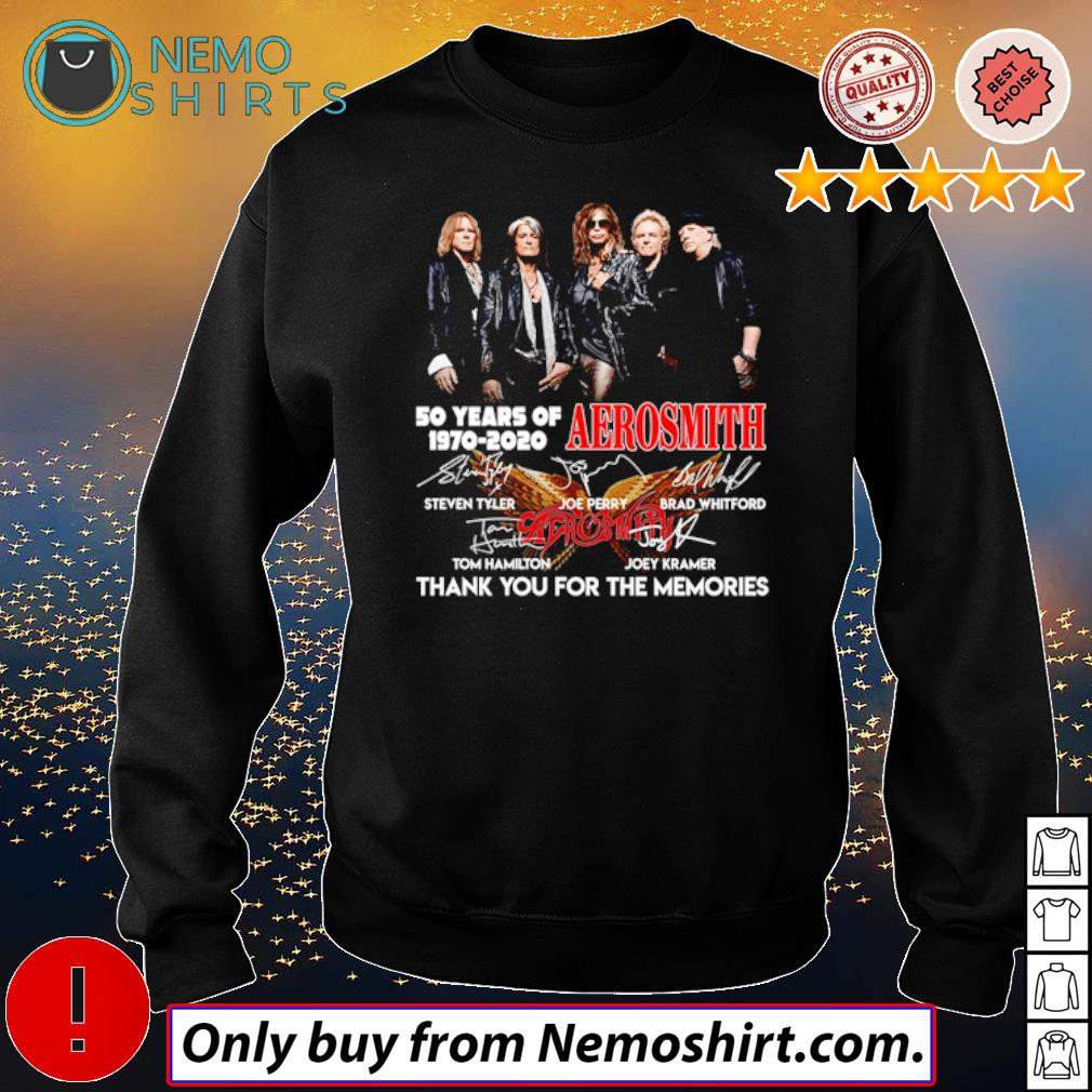 Thank you for the memories 50 Years of Aerosmith 1970-2020 s Sweatshirt Black