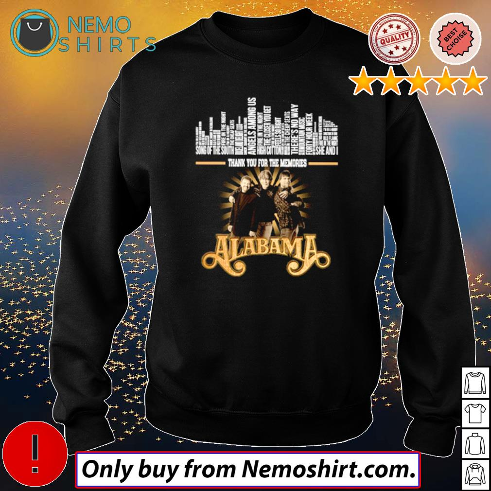 Thank you for the memories Alabama Band all members s Sweatshirt Black