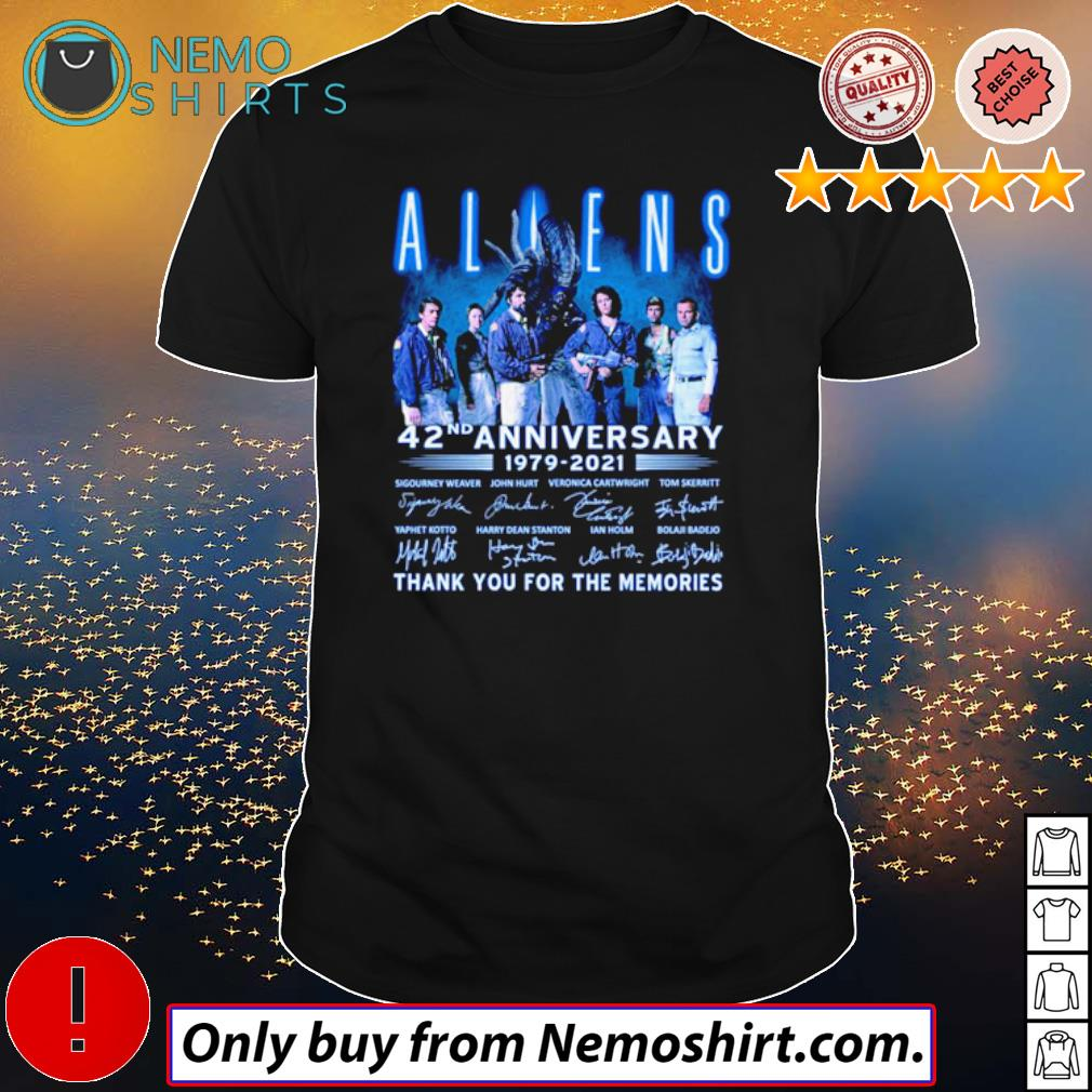 Thank you for the memories Aliens 42nd Anniversary 1979-2021 signatures shirt