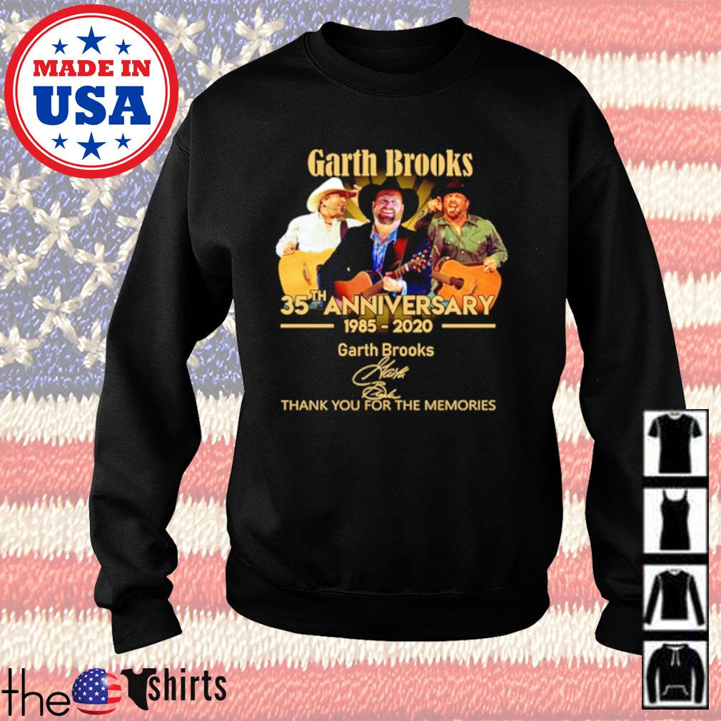 Thank you for the memories Garth Brooks 35th Anniversary 1985-2020 signature s Sweater Black