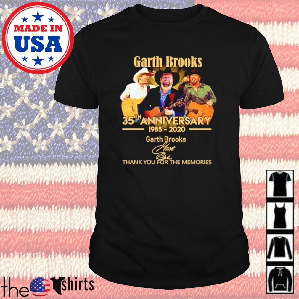 Thank you for the memories Garth Brooks 35th Anniversary 1985-2020 signature shirt