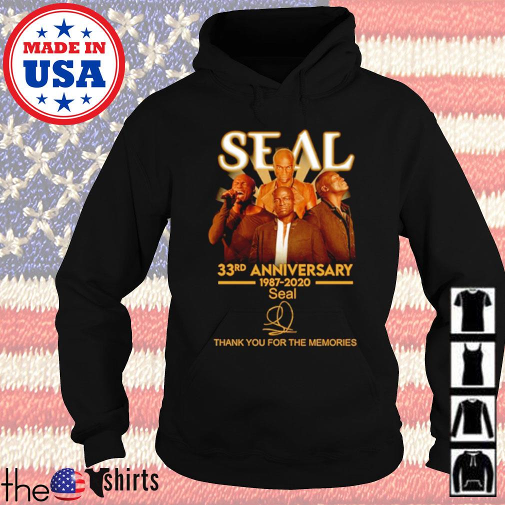 Thank you for the memories Seal 33rd Anniversary 1987-2020 signature s Hoodie Black