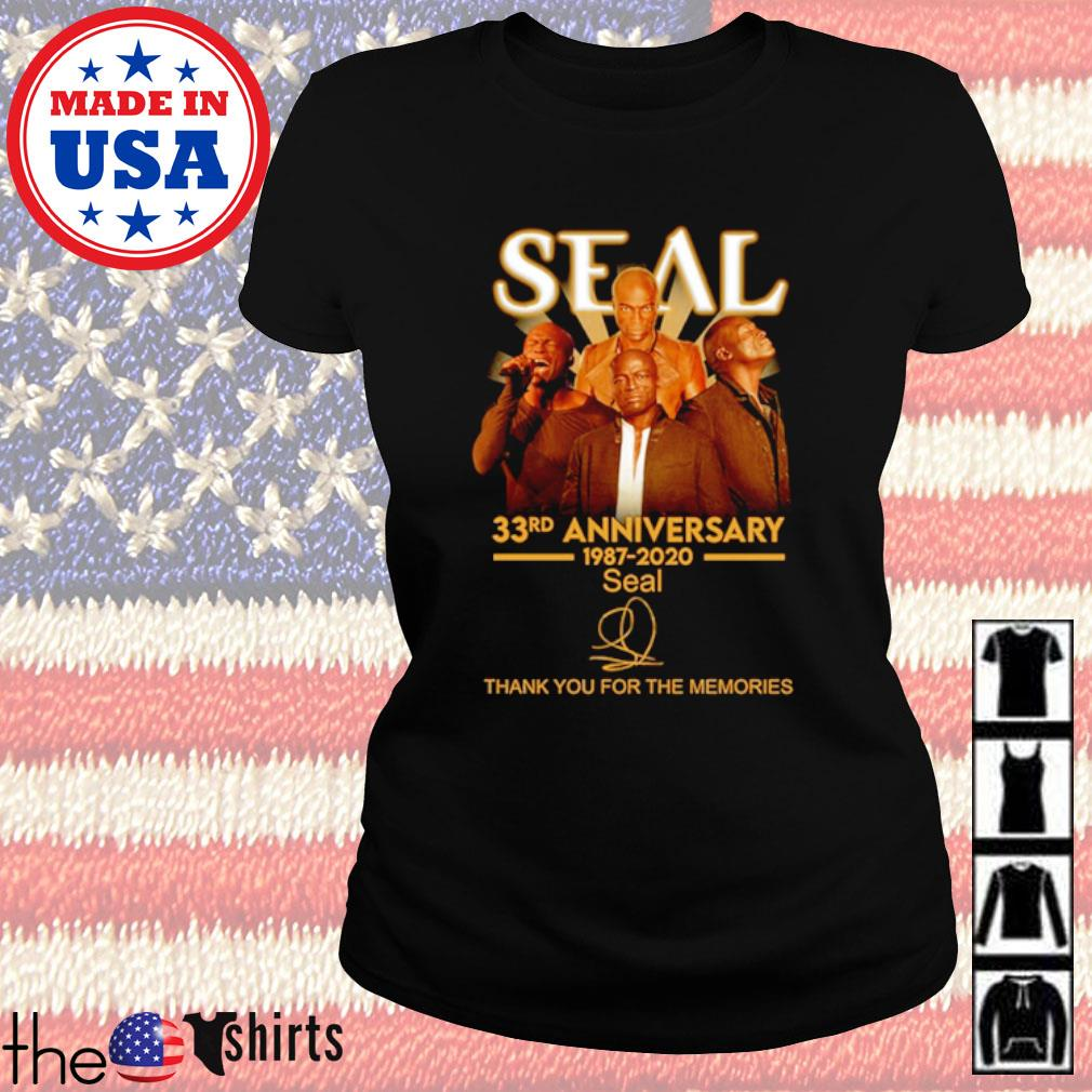 Thank you for the memories Seal 33rd Anniversary 1987-2020 signature s Ladies Tee Black
