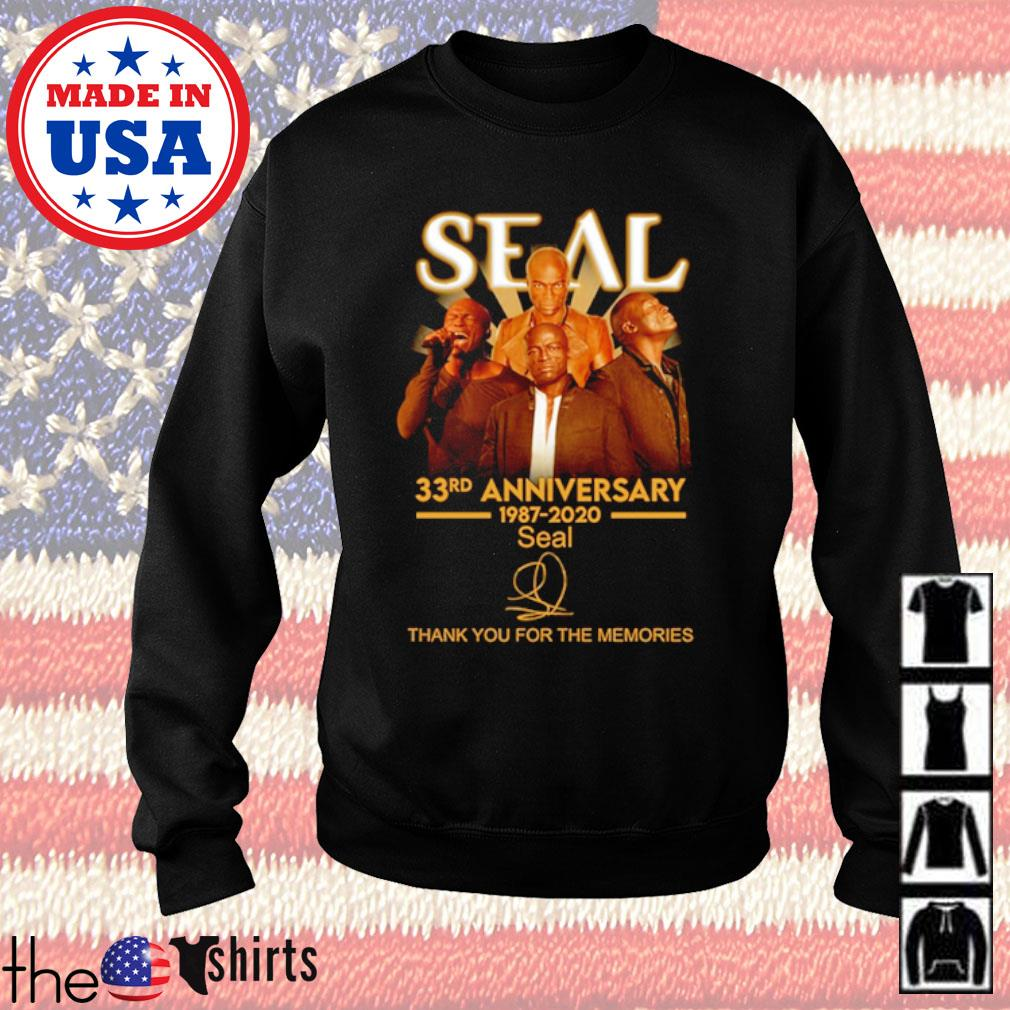 Thank you for the memories Seal 33rd Anniversary 1987-2020 signature s Sweater Black