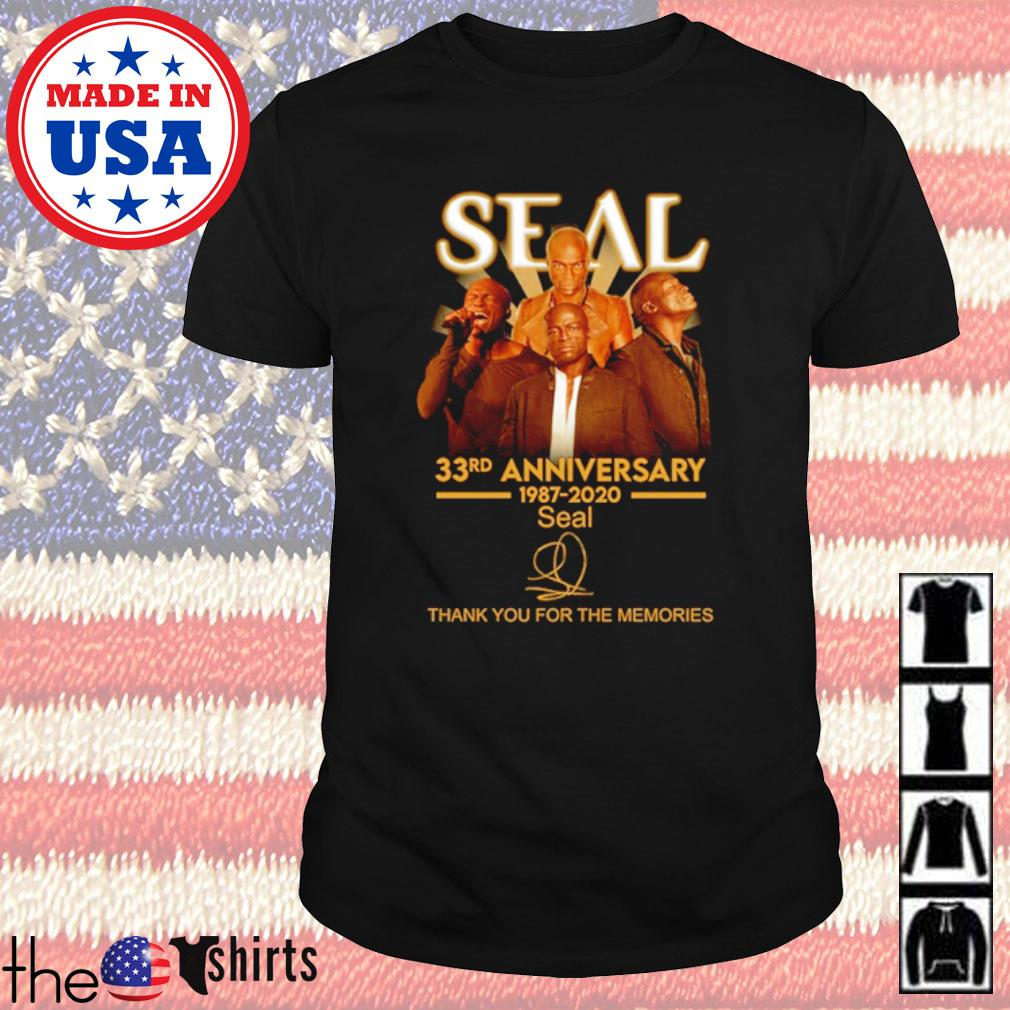 Thank you for the memories Seal 33rd Anniversary 1987-2020 signature shirt