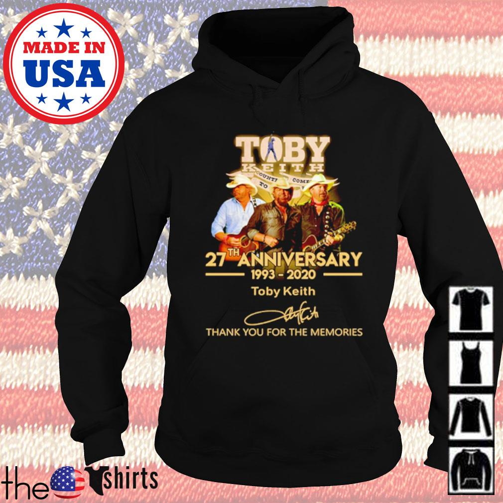 Thank you for the memories Toby Keith 27th Anniversary 1993-2020 signature s Hoodie Black