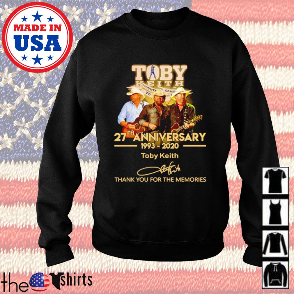 Thank you for the memories Toby Keith 27th Anniversary 1993-2020 signature s Sweater Black
