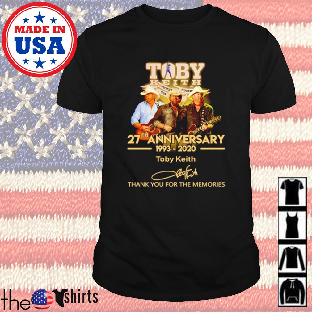 Thank you for the memories Toby Keith 27th Anniversary 1993-2020 signature shirt